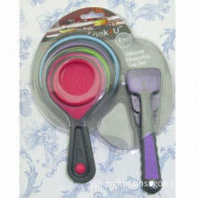 New 8-piece Silicone Measuring Cup and Spoon Set