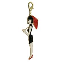Llavero personalizado del metal de las mujeres del hardware del bolso