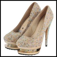 Zapatos de boda de diamantes de tacón alto (HCY02-954)