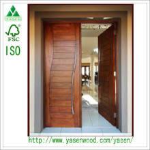 Porte d'entrée en bois massif Porte de peinture pleine qualité personnalisée