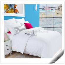 Ropa de cama de algodón egipcio 60s Hotel de lujo Star Hotel Juego de dormitorio blanco
