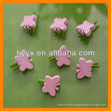 25mm Wooden Butterfly Clip Decoration