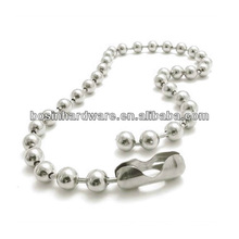 Fashion High Quality Metal Wholesale 4mm Stainless Steel Ball Chain