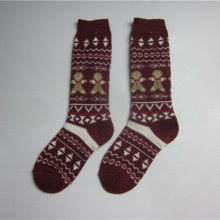 Beer Jacquard Acrylic Knitting Socks