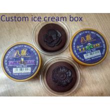 Tasse de crème glacée jetable en plastique adaptée aux besoins du client (tasse de pp)