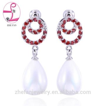 pendientes al por mayor último diseño de pendientes de perlas