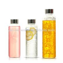 Yingmaode-Haushaltswaren-kundenspezifische tragbare Sport-Glaswasser-Flasche 750ML