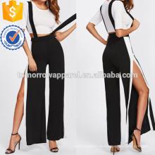 Crop Tee mit Side Split Jumpsuit Herstellung Großhandel Mode Frauen Bekleidung (TA4079SS)