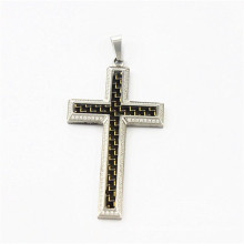 2015 diamond carbon fiber cross pendant