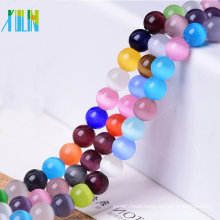 small quantity wholesale twinkle cat eye round plastic beads