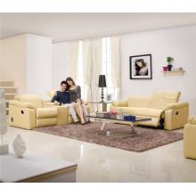 Echtes Leder Chaise Leder Sofa Elektrisch Verstellbares Sofa (705)