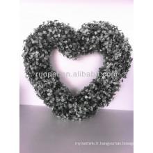 Nouveau style artificiel en forme de coeur guirlande en plastique de guirlande pour la décoration de vitrine