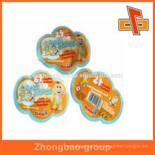 Guanghzhou personalizado impreso prefnmed abnorma bolsa bolsa de forma irregular