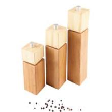 Manual Rubber Wood Sesame&Pepper Grinder