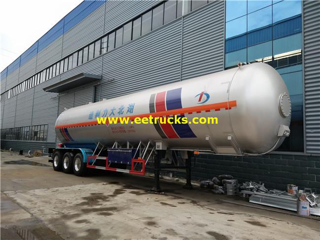 3 Axles 58000L Propane Transport Semi-trailers