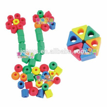 Hotsale miúdos plástico grânulo threading brinquedos