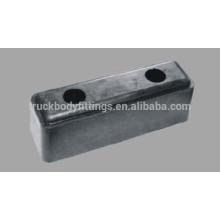Búfers de parachoques de goma de China de 248mm * 83mm * 91mm para los camiones y el remolque 071006