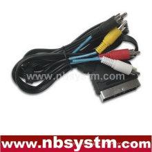 Scart Stecker Stecker auf 4 x RCA Stecker Stecker
