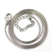 1.2mm Silver Snake Chain Necklace Length 50+5cm