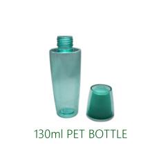 Luxus 130ml Pet Flasche mit doppelter Wandkappe