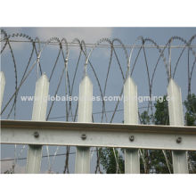 Hot dipped galvanized tower palisade fencing, factoryNew