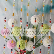 Curtain Trim 4MM&12MM&20MM Wire Crystal Acrylic Bead Strands Garland
