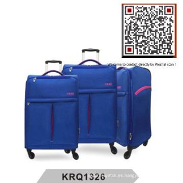 Ultra ligero 4wheels nilón suave de equipaje (krq1326)