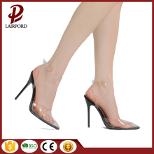 Sharp boca PVC lacado stilettos senhoras