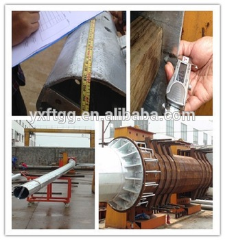 Double circuit Transmission line steel pole