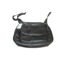 Black Genuine Leather Womens Hand Bags / Womens Shoulder Bags