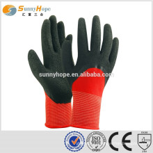 13 Gauge knit latex nylon gloves