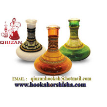 Clear Flat Glass Hookah Vase Hookah Bottles