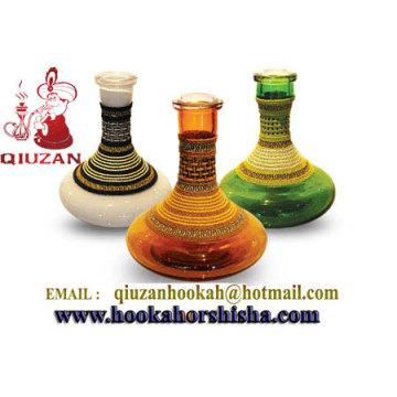 Bouteilles en verre plat clair narguilé Vase narguilé