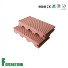 Piso impermeable compuesto de madera del decking del plástico de madera de 140 * 23m m WPC