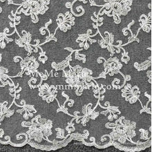 Embroidery Floral Lace for Wedding Dress Bridal Tulle Curtain Fabric French Lace Fabric 52'' No.CA265
