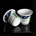 6oz custom PP disposable white plastic sealable cups for yogurt