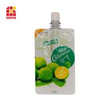 Paquete personalizado de bolsa de jugo de frutas con pico
