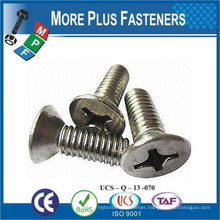Made in Taiwan Machine Screw ISO 7046 Philips Flat Head Countersunk Stainless Steel and Carbon Steel Zinc Plated