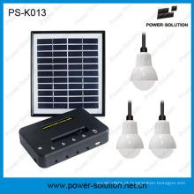 Qualificado 4W Painel Solar 3 PCS 1 W SMD Lâmpadas de LED Kit de Iluminação Casa Solar com Carregamento Do Telefone (PS-K013)
