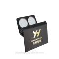 Black cardboard paper box makeup eyeshadow palette by chinese supplier