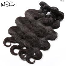 10A Pelo peruano barato de la Virgen, pelo peruano del cierre de seda de la nueva llegada, paquetes del pelo de la Virgen con el encierro del cordón