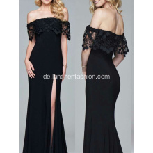 Beliebtes Style Black Off Schulter Maxi Kleid