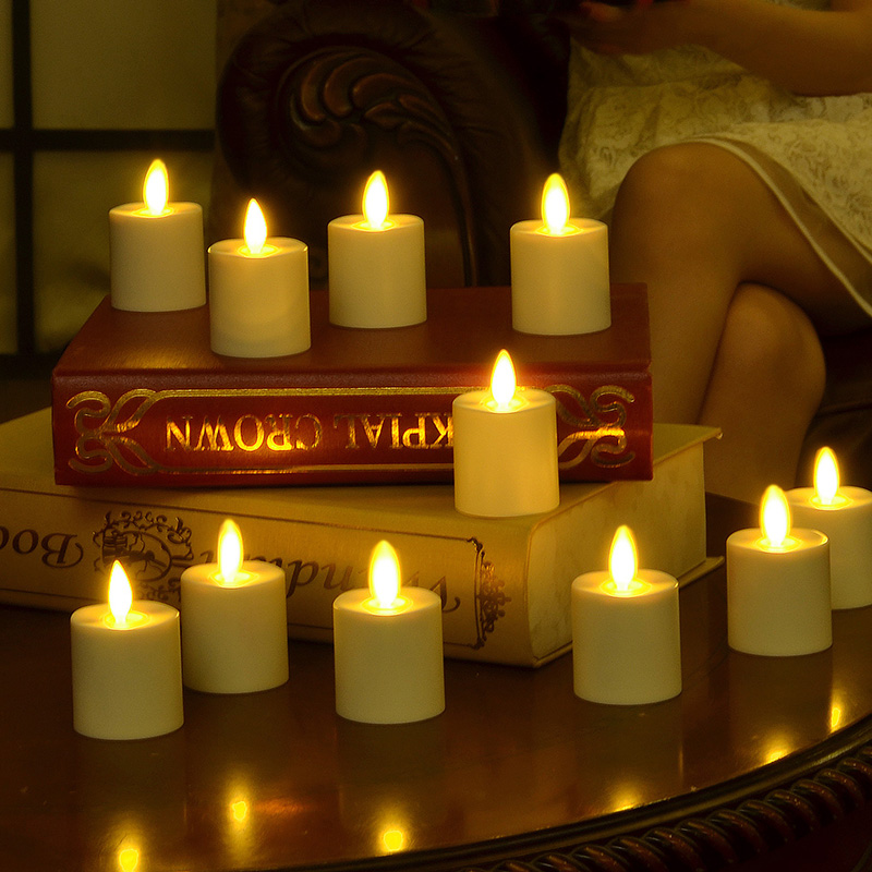 Moving Flame Rechargeable Tealight Candles