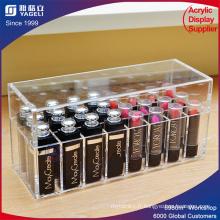 Boîte à lèvres acrylique cosmétiques avec couvercle