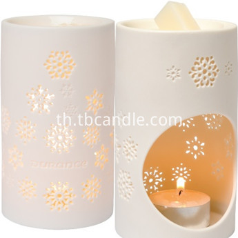 christmas decoration snowflake ceramic scented candles