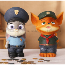 Custom Resin Cartoon Cute Decorative Craft Saving Money Box Toy