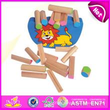 2014 neue Holzblock Balance Kid Spielzeug Set, lustige Balance Kid Spielzeug Spiel, pädagogisches Spielzeug Holz Balance Kid Spielzeug W11f036