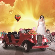 8 seat classic gas powered golf cart for weeding