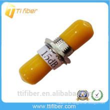ST 15 dB Atenuador de fibra óptica de tipo fijo para telecomunicaciones