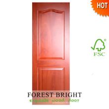 Chapa de madera de caoba MDF Panel Door